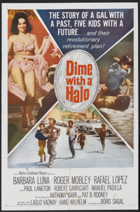 "Dime With a Halo (MGM, 1963). One Sheet (27"" X 41""). Comedy. Starring Barbara Luna, Roger Mobley, Rafael Lopez..."