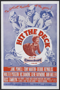 "Hit the Deck (1955) (MGM, R-1962). One Sheet (27"" X 41""). Musical Comedy. Starring Jane Powell, Debbie Reynold..."