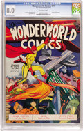 Golden Age (1938-1955):Superhero, Wonderworld Comics #11 (Fox, 1940) CGC VF 8.0 Off-white pages. The graceful figures on this cover could only be the work of ...