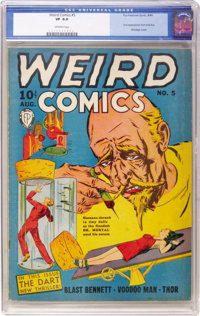 Weird Comics #5 (Fox Features Syndicate, 1940) CGC VF 8.0 Off-white pages