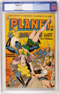 Golden Age (1938-1955):Science Fiction, Planet Comics #32 (Fiction House, 1944) CGC VF/NM 9.0 Cream tooff-white pages....