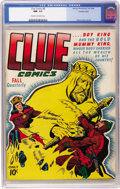 Golden Age (1938-1955):Miscellaneous, Clue Comics #8 Crowley Copy pedigree (Hillman Publications, 1944) CGC NM- 9.2 Cream to off-white pages. One of the interesti...
