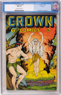 Golden Age (1938-1955):Adventure, Crown Comics #6 Big Apple pedigree (Golfing, Inc., 1946) CGC NM 9.4 Off-white to white pages....