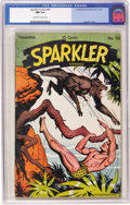 Golden Age (1938-1955):Adventure, Sparkler Comics #50 (United Features Syndicate, 1945) CGC NM 9.4 Off-white to white pages. Burne Hogarth was not only one of...
