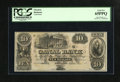 Obsoletes By State:Louisiana, New Orleans, LA- Canal Bank $10 18__. A detailed engraving of New Orleans City Hall dominates this $10. PCGS Gem New 65PPQ...