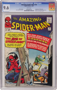 The Amazing Spider-Man #18 (Marvel, 1964) CGC NM+ 9.6 White pages