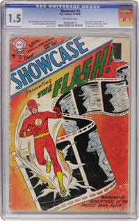 Showcase #4 The Flash (DC, 1956) CGC FR/GD 1.5 Off-white pages