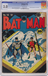Batman #10 (DC, 1942) CGC GD/VG 3.0 White to white pages