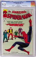 Silver Age (1956-1969):Superhero, The Amazing Spider-Man #10 (Marvel, 1964) CGC NM- 9.2 White pages....