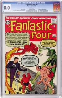 Fantastic Four #6 (Marvel, 1962) CGC VF 8.0 White pages