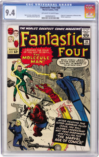 Fantastic Four #20 (Marvel, 1963) CGC NM 9.4 Off-white to white pages