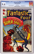 Silver Age (1956-1969):Superhero, Fantastic Four #18 (Marvel, 1963) CGC NM 9.4 White pages....