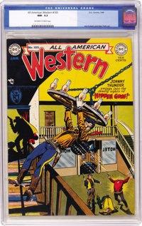 All-American Western #105 (DC, 1949) CGC NM- 9.2 Off-white to white pages. Alex Toth cover. Toth and Joe Kubert interior...
