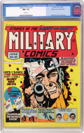 "Golden Age (1938-1955):War, Military Comics #10 Mile High pedigree (Quality, 1942) CGC NM+ 9.6 White pages. ""Classic (Will) Eisner cover,"" says Overstre..."