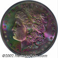 Morgan Dollars: , 1880-S $1 MS66 PCGS. The obverse covered with an intense ...