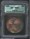 Morgan Dollars: , 1888 $1 MS63 ICG. Some weakness in the hair over Liberty'...