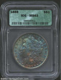 Morgan Dollars: , 1888 $1 MS63 ICG. Well struck and moderately abraded ...