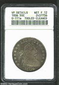Early Half Dollars: , 1806 50C 6 Over Inverted 6--Tooled, Cleaned--ANACS. VF ...