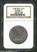 Bust Half Dollars: , 1829/7 50C MS61 NGC. O-102, R.2. One of the more dramatic ...