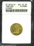 Early Quarter Eagles: , 1808 $2 1/2 --Cleaned--ANACS. XF Details, Net VF30. Bass-...
