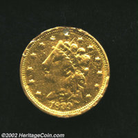1839/8-C $2 1/2 VG8 Ex-Jewelry, Damaged Uncertified. Winter 3-C, R.3. Polished, scratched, and with solder residue and r...