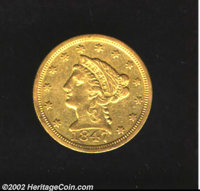 1847-C $2 1/2 XF40 Cleaned Uncertified. A later die state, this coin exhibits some evidence of die rust (as produced) in...