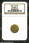 Liberty Quarter Eagles: , 1847-O $2 1/2 XF45 NGC. Evenly worn with the overall weak ...