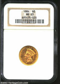 Three Dollar Gold Pieces: , 1884 $3 MS65 NGC. Like the 1880 (both dates have ...