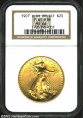 High Relief Double Eagles: , 1907 $20 High Relief, Flat Rim MS66 NGC. This is one of ...