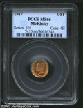 Commemorative Gold: , 1917 G$1 McKinley MS66 PCGS. A high grade and very flashy ...