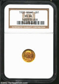 Commemorative Gold: , 1922 G$1 Grant MS66 NGC. Richly toned for a Gold ...