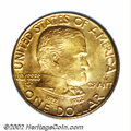 Commemorative Gold: , 1922 G$1 Grant with Star MS67 PCGS. An exquisite ...