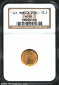 Commemorative Gold: , 1926 $2 1/2 Sesquicentennial MS64 NGC. This lustrous ...