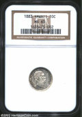Coins of Hawaii: , 1883 10C Hawaii Ten Cents MS63 NGC. Light gray toning ...
