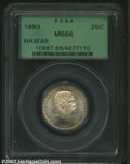 Coins of Hawaii: , 1883 25C Hawaii Quarter MS66 PCGS. This conditionally ...