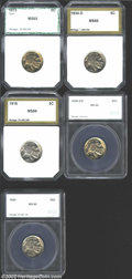 Additional Certified Coins: , 1913 5C Type One Nickel MS65 PCI (MS63), well struck with ...