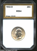 Additional Certified Coins: , 1932-D 25C Quarter MS64 PCI (MS63). Well struck and ...