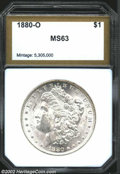 Additional Certified Coins: , 1880-O $1 Morgan Dollar MS63 PCI (MS61). A brilliant, ...