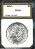 Additional Certified Coins: , 1889-O $1 Morgan Dollar MS64 PCI (MS61). Lustrous and ...
