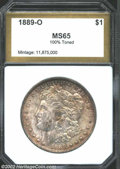 Additional Certified Coins: , 1889-O $1 Morgan Dollar MS65 100% Toned PCI (MS64). The ...