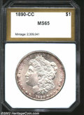 Additional Certified Coins: , 1890-CC $1 Morgan Dollar MS65 PCI (MS63). An attractive ...