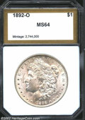 Additional Certified Coins: , 1892-O $1 Morgan Dollar MS64 PCI (MS63). Typically ...