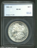 Additional Certified Coins: , 1893-CC $1 Morgan Dollar MS66 SEGS (MS65). The '93-CC ...