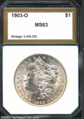 Additional Certified Coins: , 1903-O $1 Morgan Dollar MS63 PCI (MS61). Peripheral ...