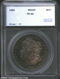 Additional Certified Coins: , 1882 $1 Morgan Dollar PR66 SEGS (PR65 Questionable Color).