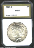 Additional Certified Coins: , 1923-S $1 Peace Dollar MS65 PCI (MS64). A lovely coin, ...