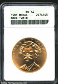Medals and Tokens: , 1981 American Arts Commemorative Series One Ounce Gold Medal ...