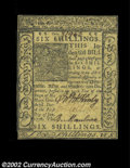 Colonial Notes:Delaware, Delaware January 1, 1776 6s Choice New. Bright and well ...