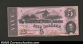 Confederate Notes:1862 Issues, 1862 $5 State Capitol at Richmond, VA in center; C.G. ...