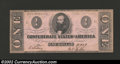Confederate Notes:1862 Issues, 1862 $1 Clement C. Clay, T-55, CU. Characteristic pink paper....